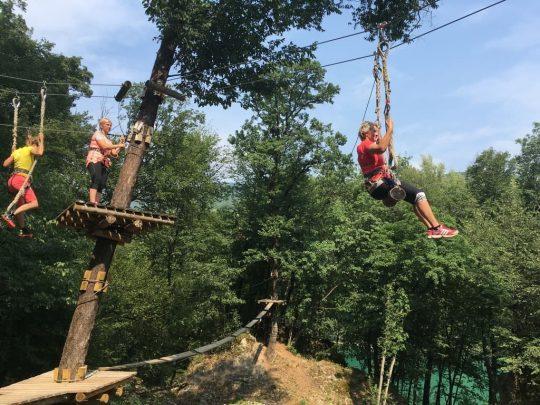 team building zip line